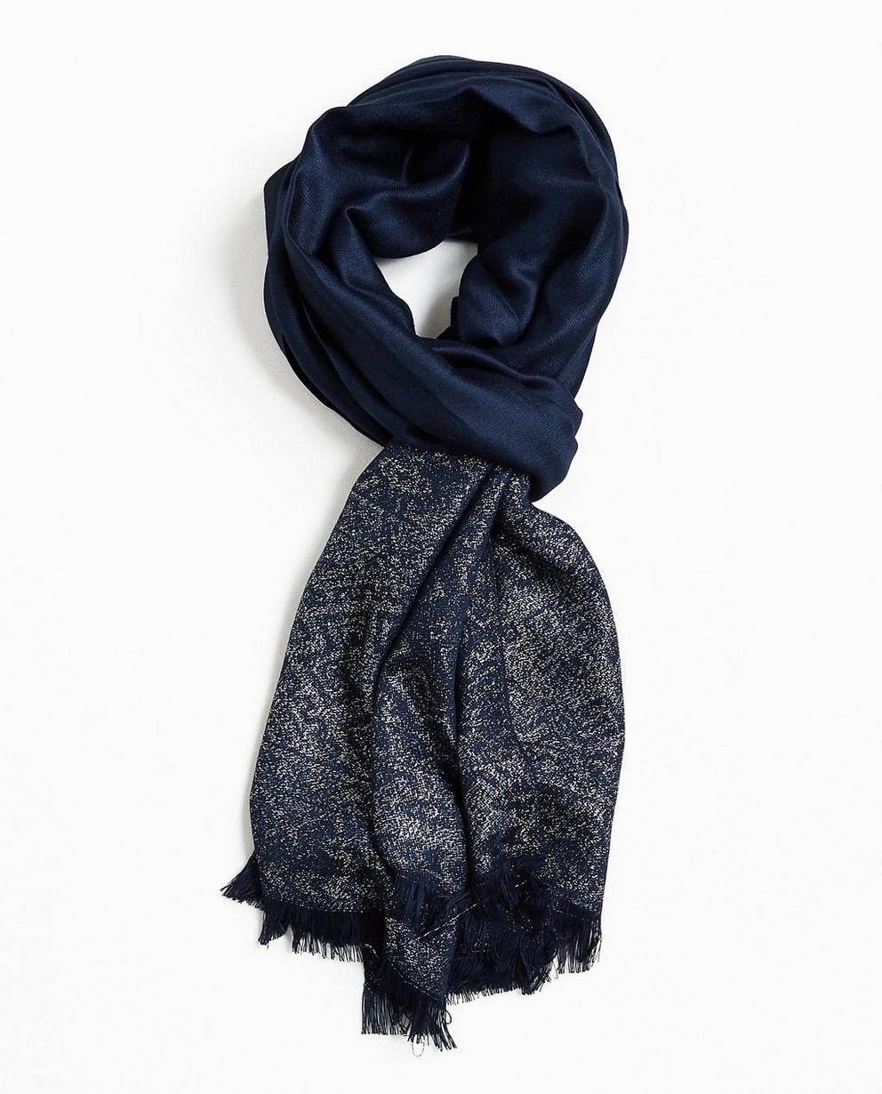 Écharpe bleu nuit - fil argenté - JBC